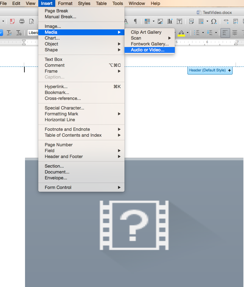 Insert And Play Video In Office Libreoffice Apps Os College