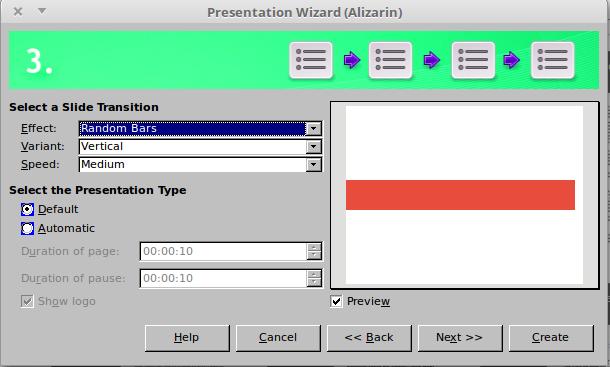 Presentation Wizard Step 3