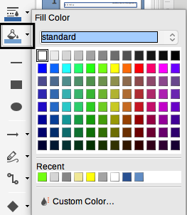 LibreOffice Draw Fill Color dialog