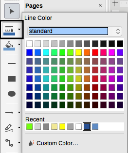 LibreOffice Draw Line Color dialog