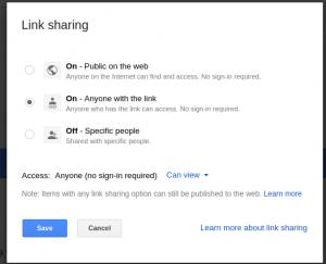 Link Sharing, Get Shareable Link
