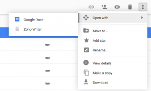 Google Drive Open with