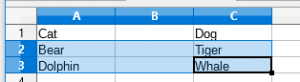Add multiple rows LibreOffice Calc; before