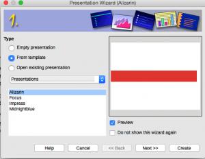 Presentation Wizard Step 1