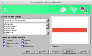 Presentation Wizard Step 2 LibreOffice