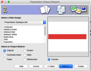 Presentation Wizard Step 2