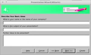 Presentation Wizard Step 4