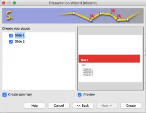 Presentation Wizard Step 5