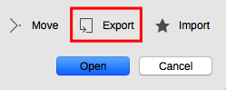 Export templates LibreOffice Template Manager