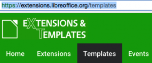 Extensions and Templates Website for LibreOffice