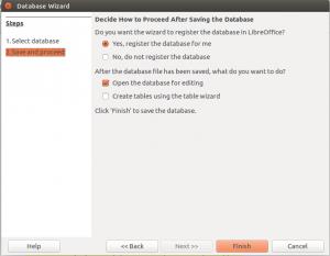 LibreOffice Base Database Wizard Step 2