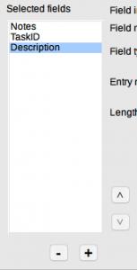 LibreOffice Base Table Wizard Step 2 - Rearrange fields
