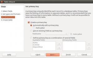 LibreOffice Base Table Wizard Step 3