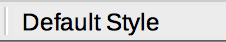 Page Style in Status bar of LibreOffice Writer