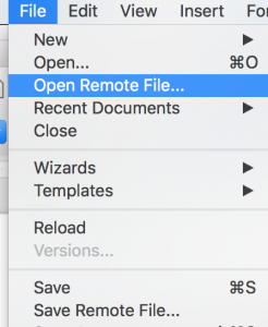 LibreOffice Remote Servers dialog