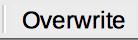 Insert/Overwrite mode in Status bar of LibreOffice Writer