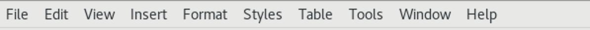 LibreOffice Writer menus