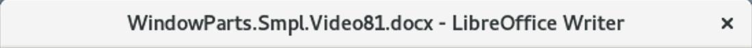 LibreOffice Writer Titlebar in Fedora