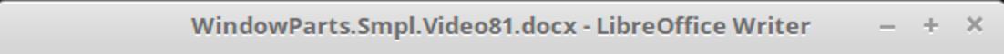 LibreOffice Writer Titlebar in Mint