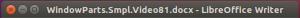 LibreOffice Writer Titlebar in Ubuntu