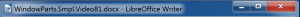 LibreOffice Writer Titlebar in Windows