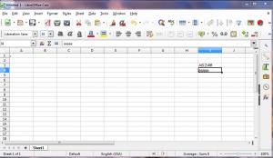 LibreOffice Calc document