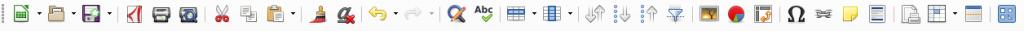 LibreOffice Calc Standard toolbar