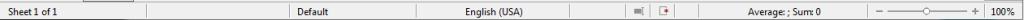LibreOffice Calc.Statusbar