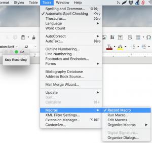 Record Macros in LibreOffice