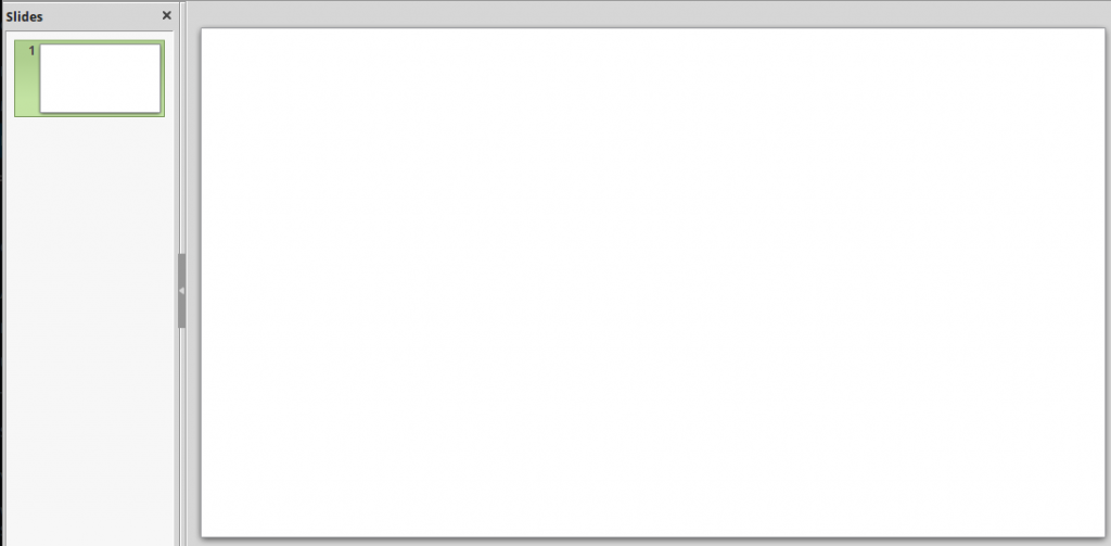 Blank slide in LibreOffice Impress