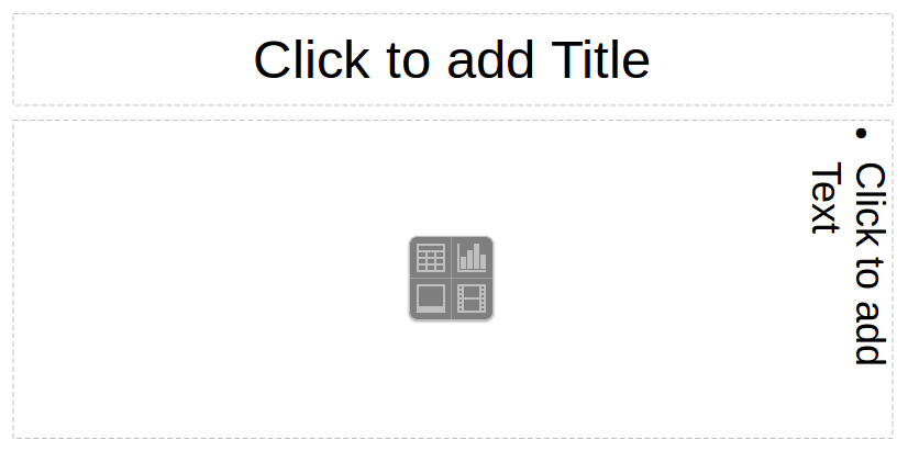 LibreOffice Impress slide with Horizontal Title and Vertical content box
