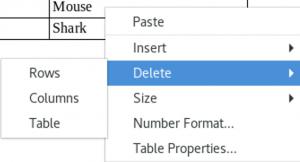 Delete sub-menu in Context menu