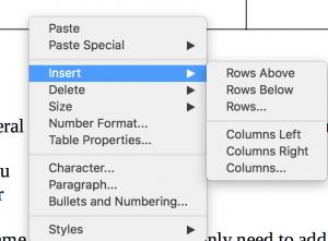 Insert sub-menu in Context menu