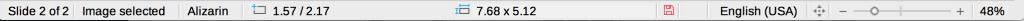 Status bar in LibreOffice Impress