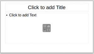 Title and Content slide in LibreOffice Impress