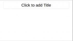 Title Only slide on LibreOffice Impress