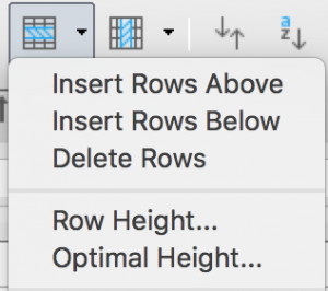 Insert rows in Standard toolbar in LibreOffice Calc