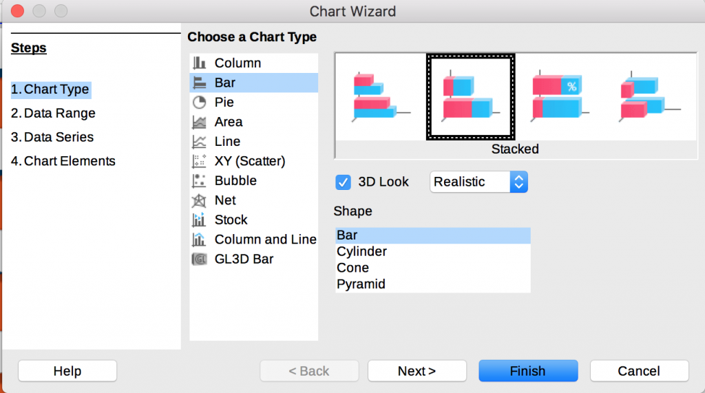 Calc, Excel can create customizable bar, column charts – OS-College