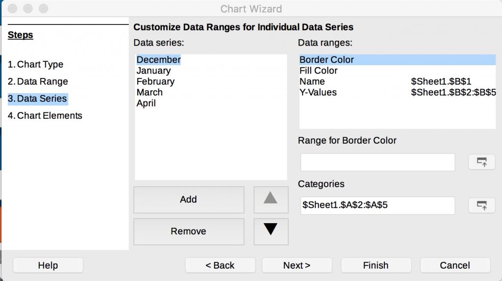 Data Series step in LibreOffice Calc