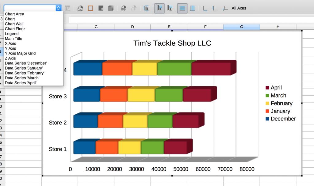 Formatting toolbar in LibreOffice Calc