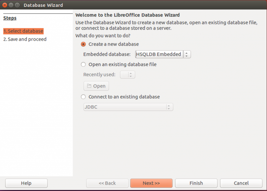 Database Wizard in Ubuntu