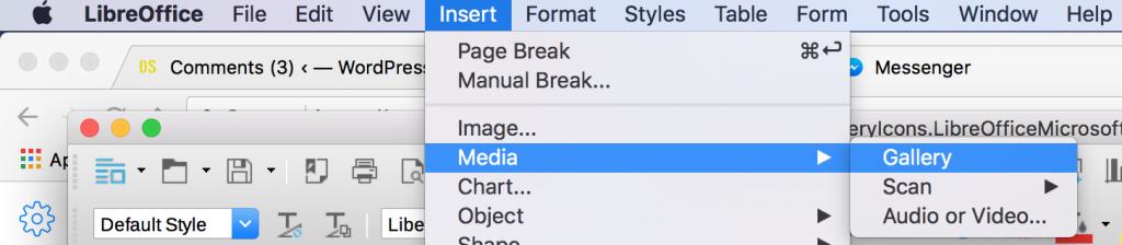 Gallery item in LibreOffice