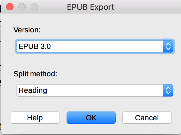 LibreOffice EPUB Export