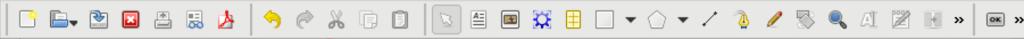 Top toolbar in Scribus