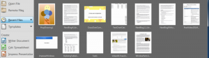 Recent Files in LibreOffice StartCenter