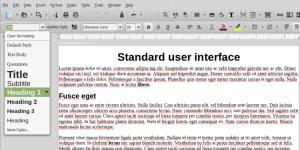 Set Paragraph Style menu in LibreOffice default format