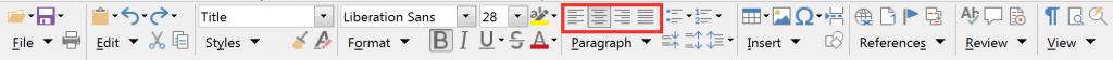 Groupedbar Compact alignment in LibreOffice Writer