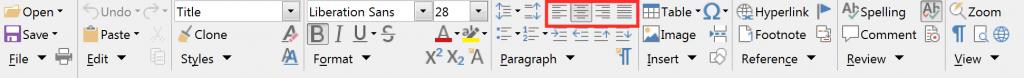 Groupedbar Full alignment LibreOffice Writer